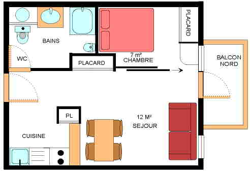 Location r sidence le petit mont cenis 2 location for Amenager sejour 15m2