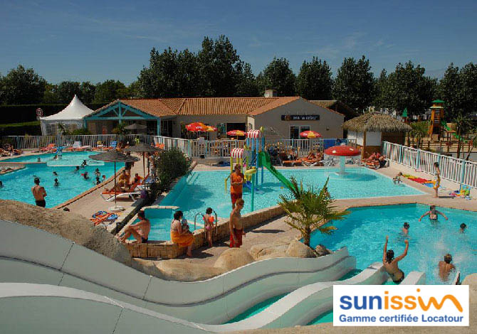 Location camping sunissim la pomme de pin location for Piscine st hilaire de riez 85