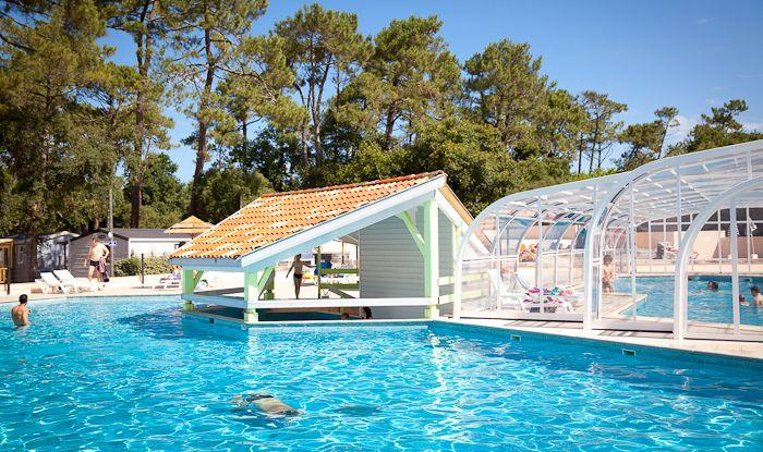 Location camping le boudigau 4 location vacances labenne for Camping piscina toboganes