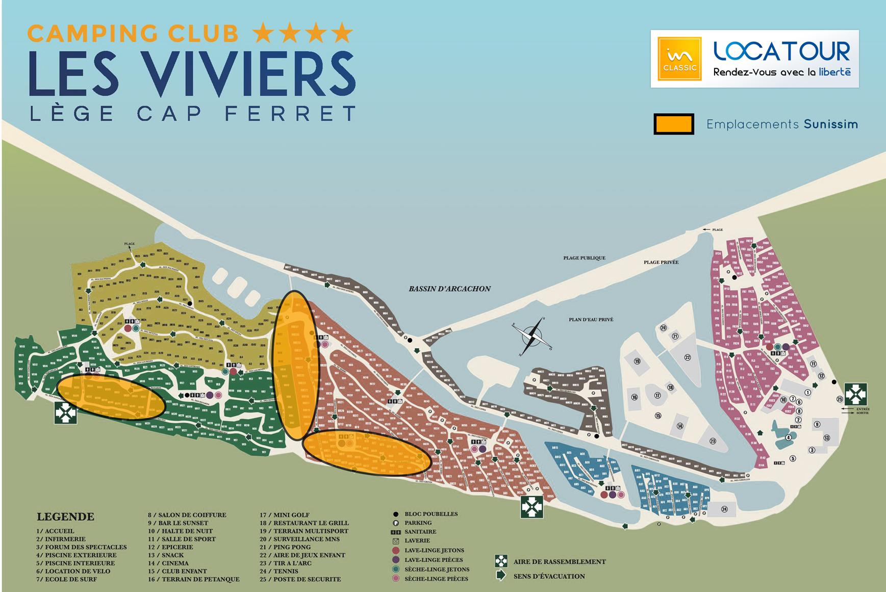 Location Camping Sunissim Les Viviers 4 Location