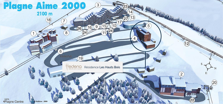 Location Résidence Hedena les Hauts Bois , Location vacances Plagne Aime 2000 # Les Hauts Bois Aime La Plagne