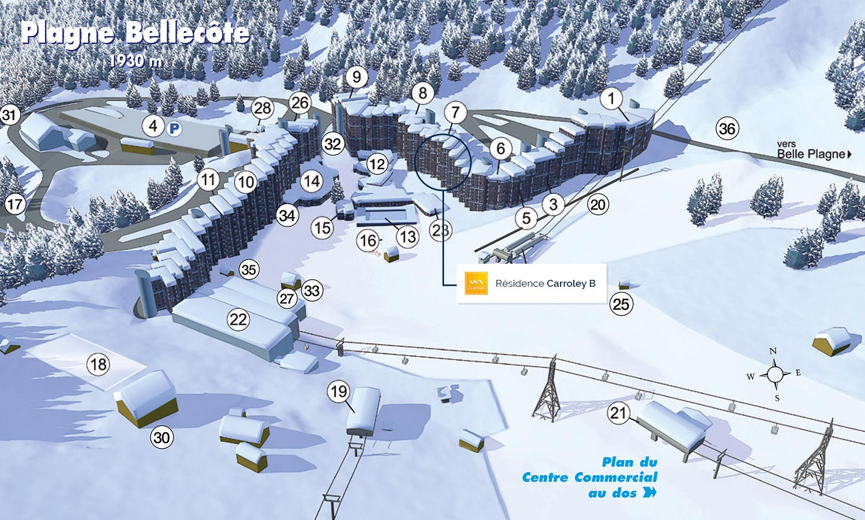Location skissim select r sidence carroley b location vacances plagne bellec te - La plagne bellecote office du tourisme ...