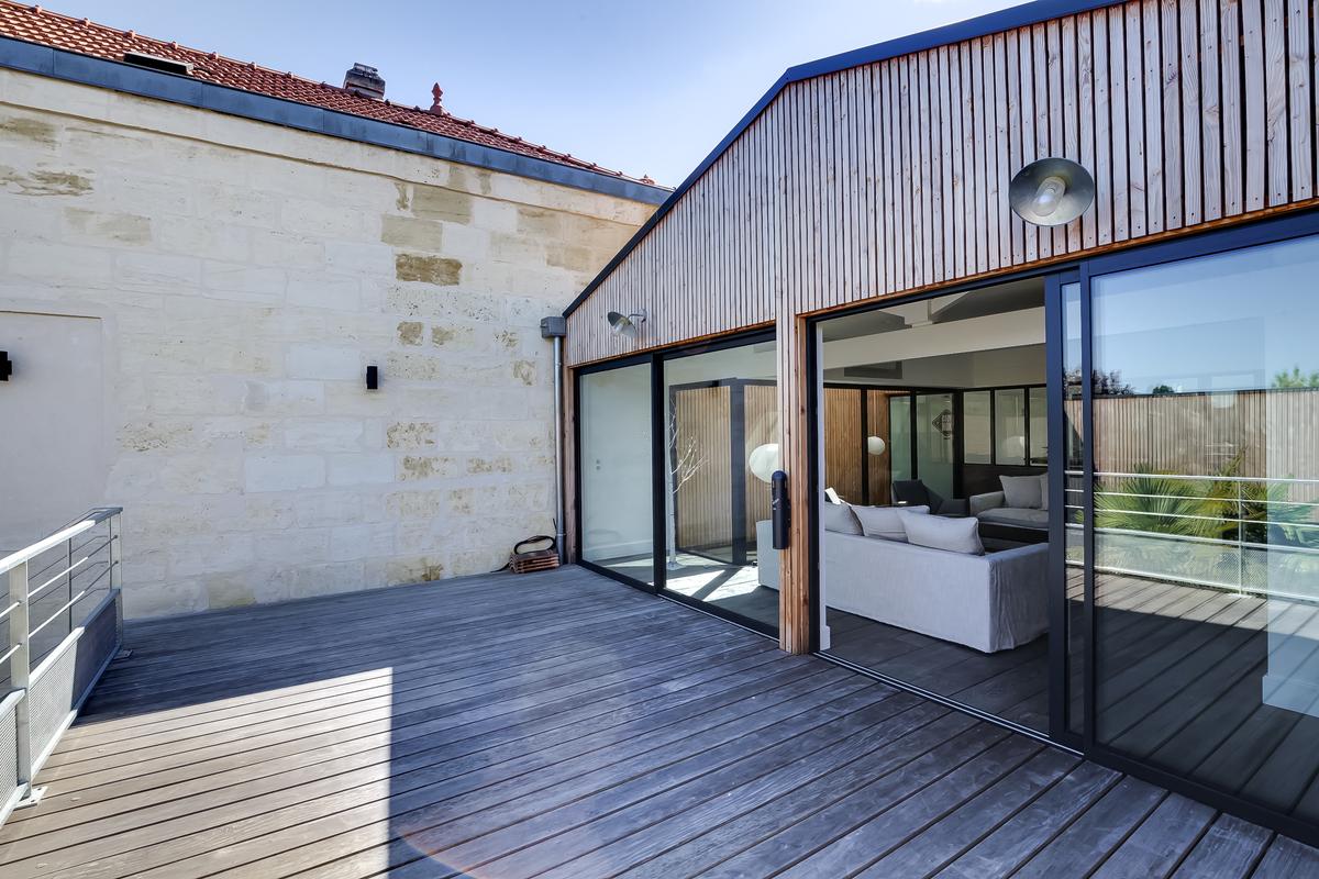 Maison de ville contemporaine style loft background
