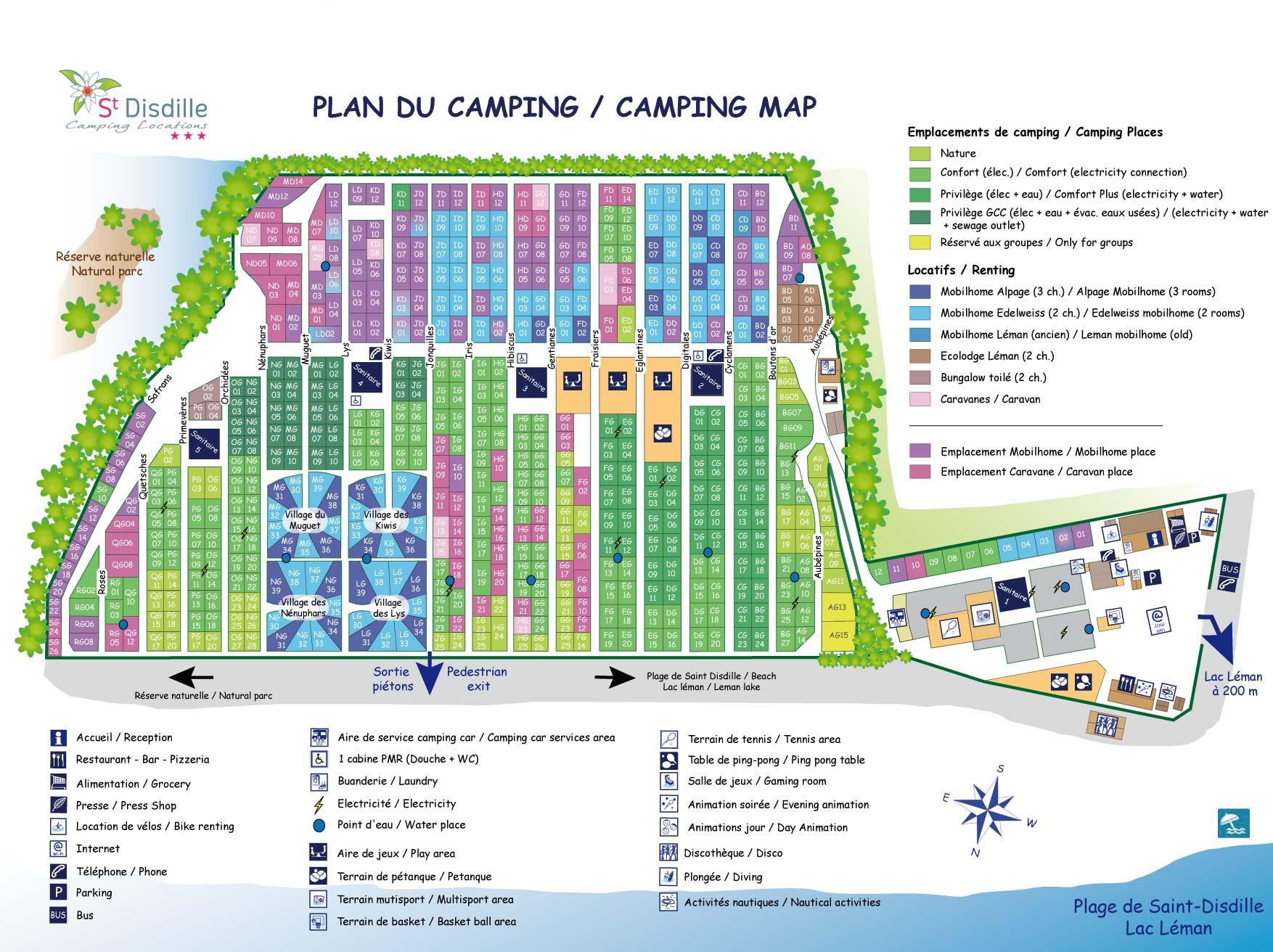 Location camping saint disdille location vacances for Camping thonon les bains avec piscine