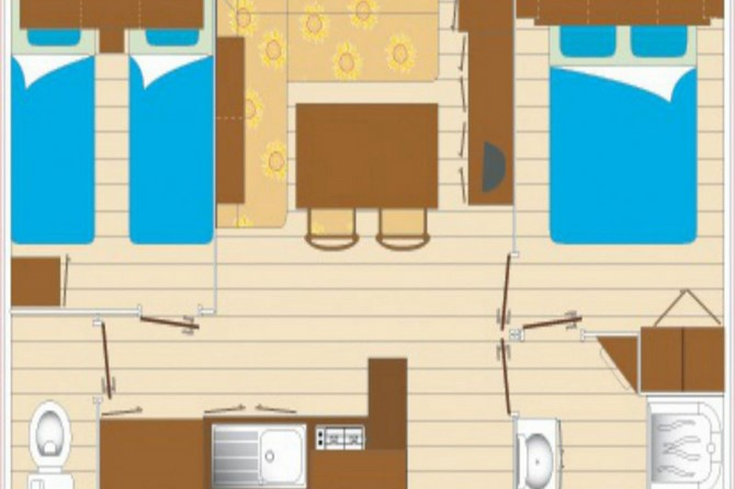 Mobil Home 2 Chambres 6 personnes