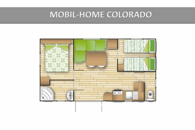 Mobil Home 2 ch 4/6 personnes Colorado TV Clim