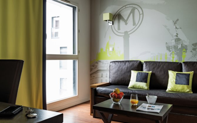 Location appart 39 h tel lagrange vacances paris boulogne 3 for Studio appart hotel paris