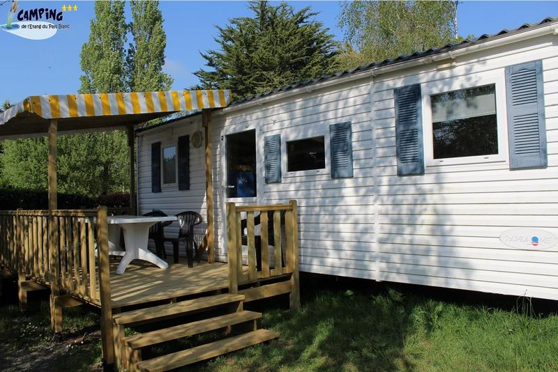 Mobilhome (3 chambres) avec terrasse couverte 6/8p 6/8 Pers.