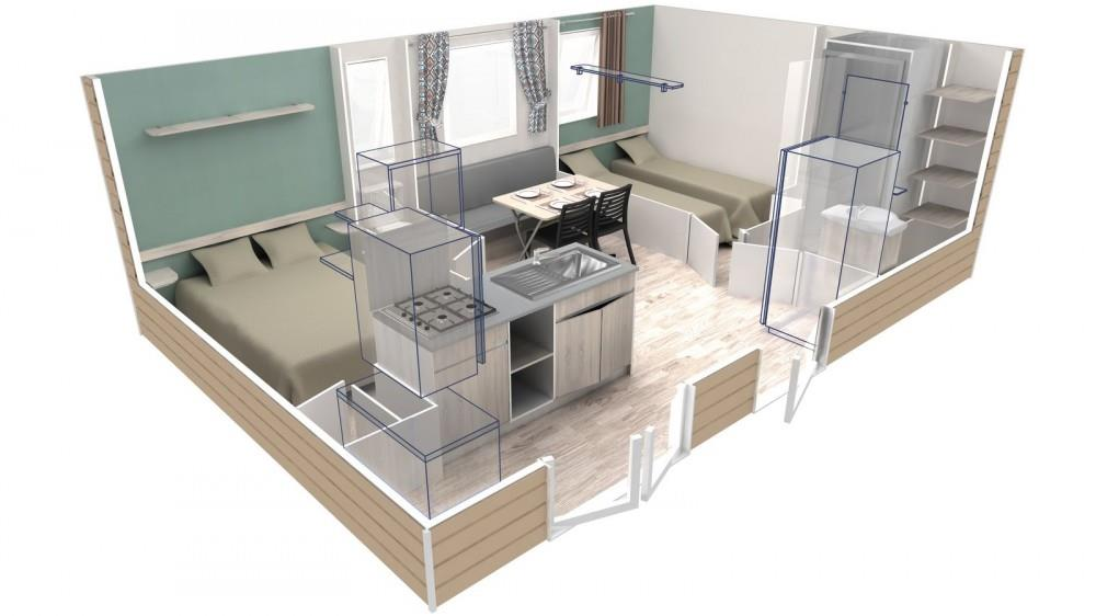 Mobil-home 2 chambres 4 personnes Confort
