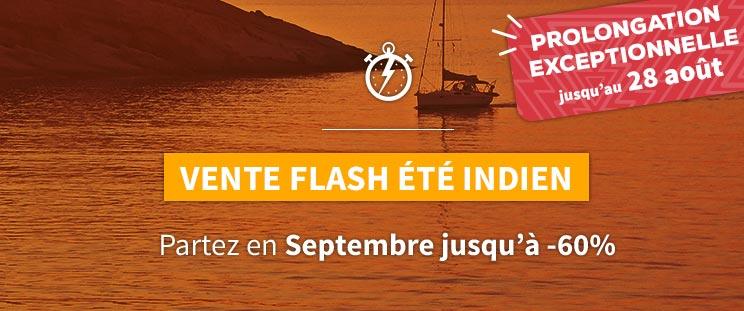 Vente Flash Été Indien, Partez en Septembre