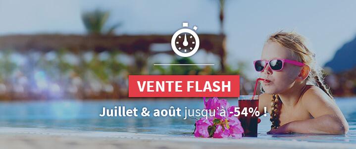 Vente Flash spécial juillet et août