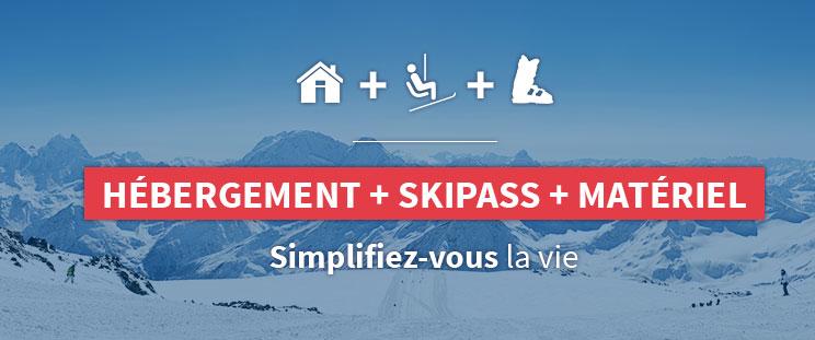 Hébergement + skipass + matériel<br />simplifiez vous la vie