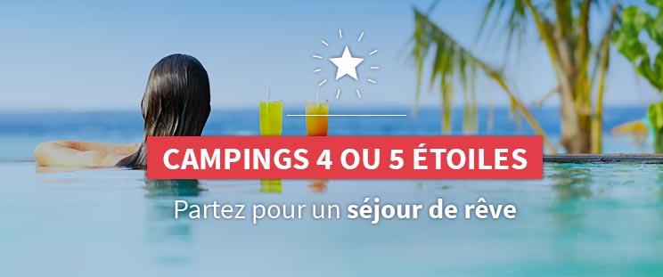 Campings 4 ou 5 étoiles