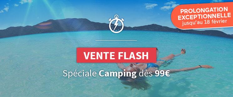 Vente Flash Camping dès 99€