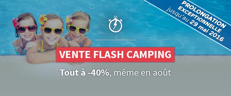 Vente Flash Campings -40%